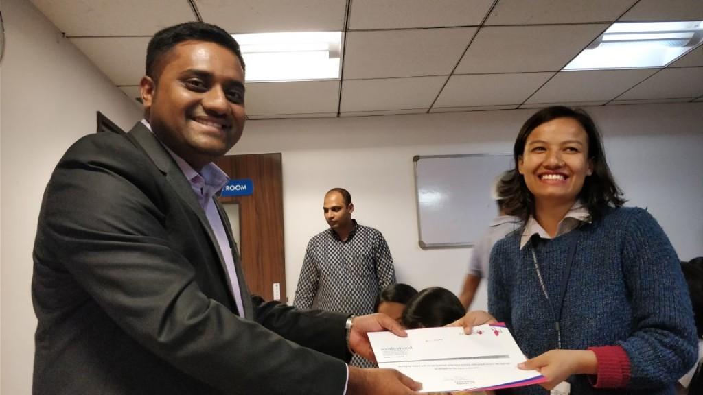 Awarding Internship Certificate for IVth B.Sc on 28.08.2018