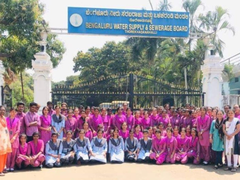 Aditya Students Group in front of BWSSB gate