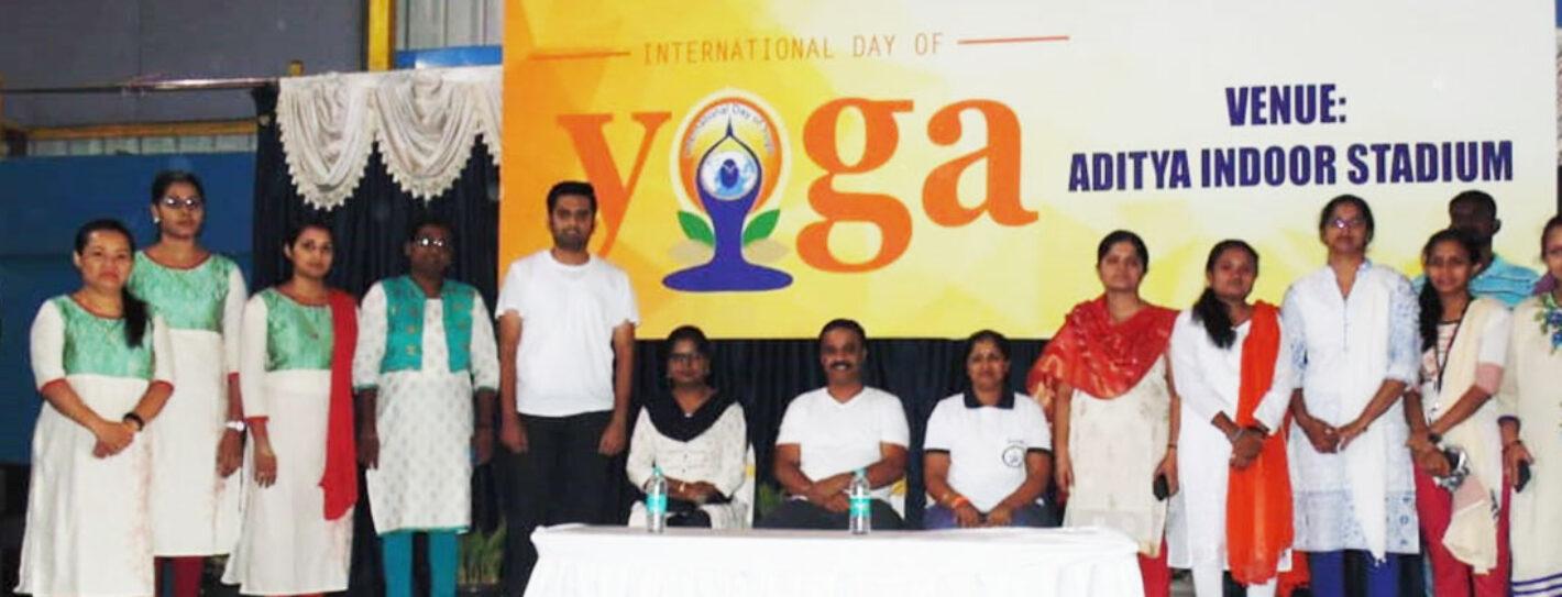 Celebration of International yoga day on 21-06-2019