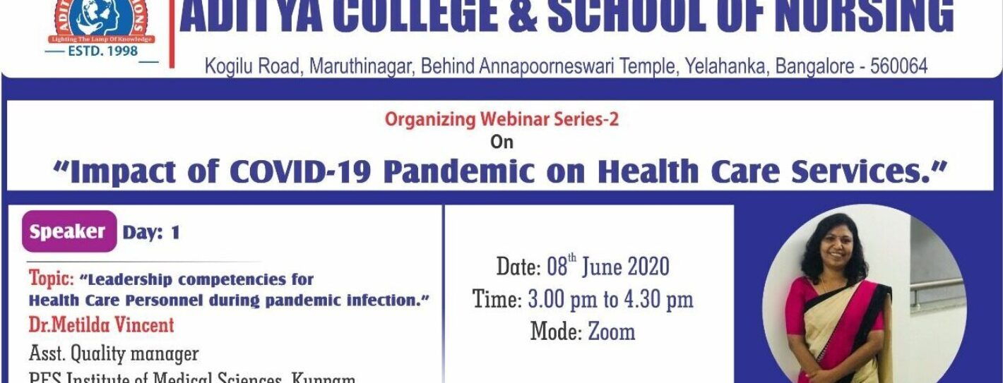 """Webinar Series on """"Impact of Covid-19 Pandemic on Healthcare Services"""""""
